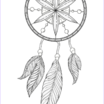 Dream Catcher Coloring Page Inspirational Stock Dream Catcher Coloring Page