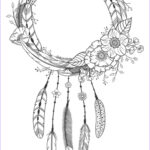 Dream Catcher Coloring Pages For Adults Awesome Collection Dreamcatcher Coloring Page