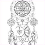 Dream Catcher Coloring Pages For Adults Awesome Image Dreamcatcher Coloring Page For Adults Mandala Adult