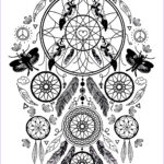 Dream Catcher Coloring Pages For Adults Awesome Photos Incredible Dreamcatcher Dreamcatchers Adult Coloring Pages
