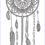 Dream Catcher Coloring Pages For Adults Beautiful Photos Dreamcatcher Coloring Page