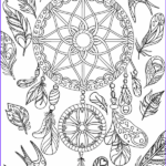 Dream Catcher Coloring Pages For Adults Best Of Stock Dreamcatcher Adult Coloring Page