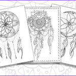 Dream Catcher Coloring Pages For Adults Cool Collection Dream Catcher Pack Adult Coloring Pages Instant Download