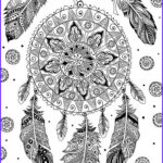 Dream Catcher Coloring Pages For Adults Inspirational Photos Dream Catcher Printable Adult Coloring Pages From Favoreads
