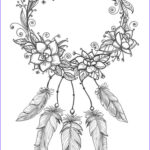 Dream Catcher Coloring Pages For Adults Inspirational Photos Dreamcatcher Coloring Page
