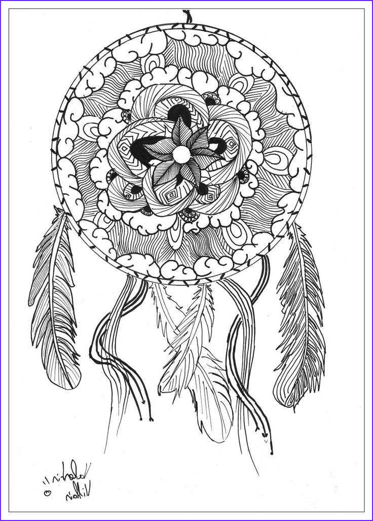 Dreamcatcher Coloring Page Awesome Images 134 Best Images About Dreamcatcher Coloring Pages for