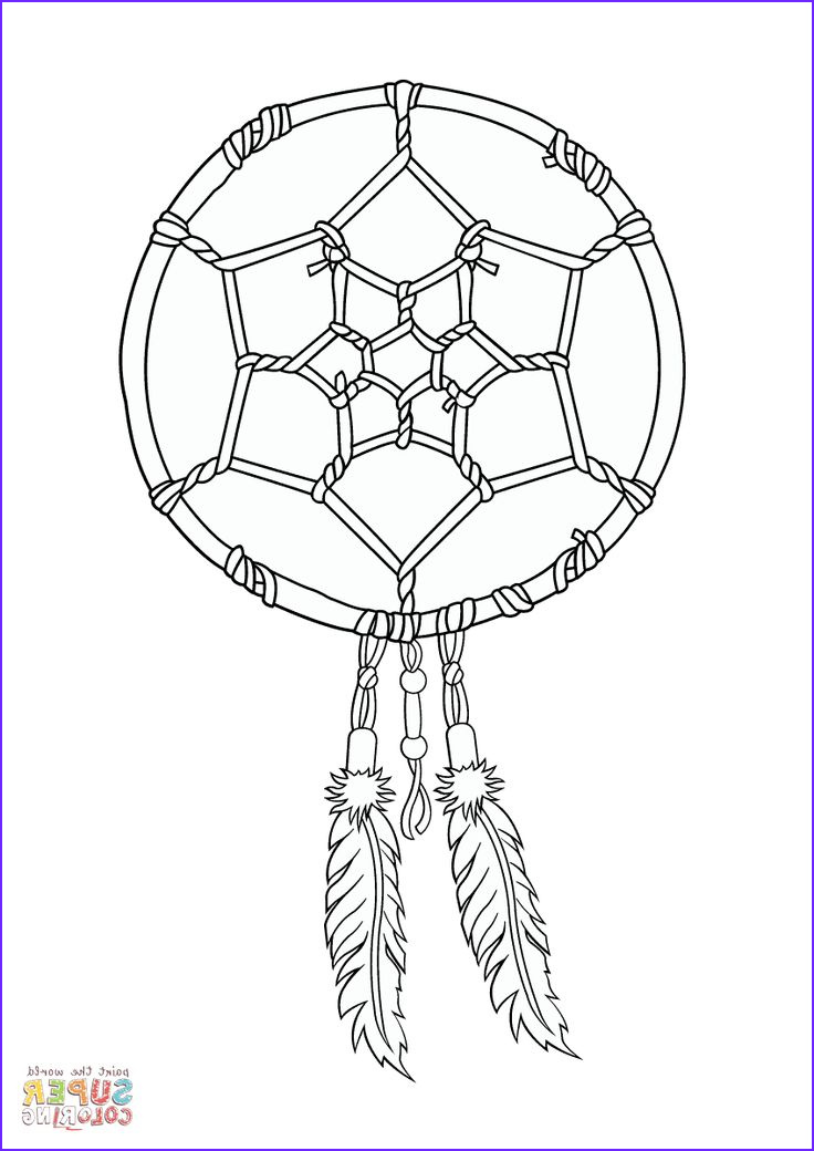 Dreamcatcher Coloring Page Beautiful Photos 24 Best Dreamcatcher Coloring Pages Images On Pinterest