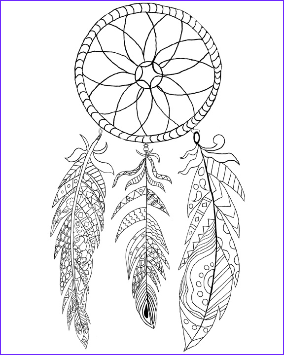 Dreamcatcher Coloring Page Best Of Image Free Printable Dream Catcher Coloring Page the Graphics