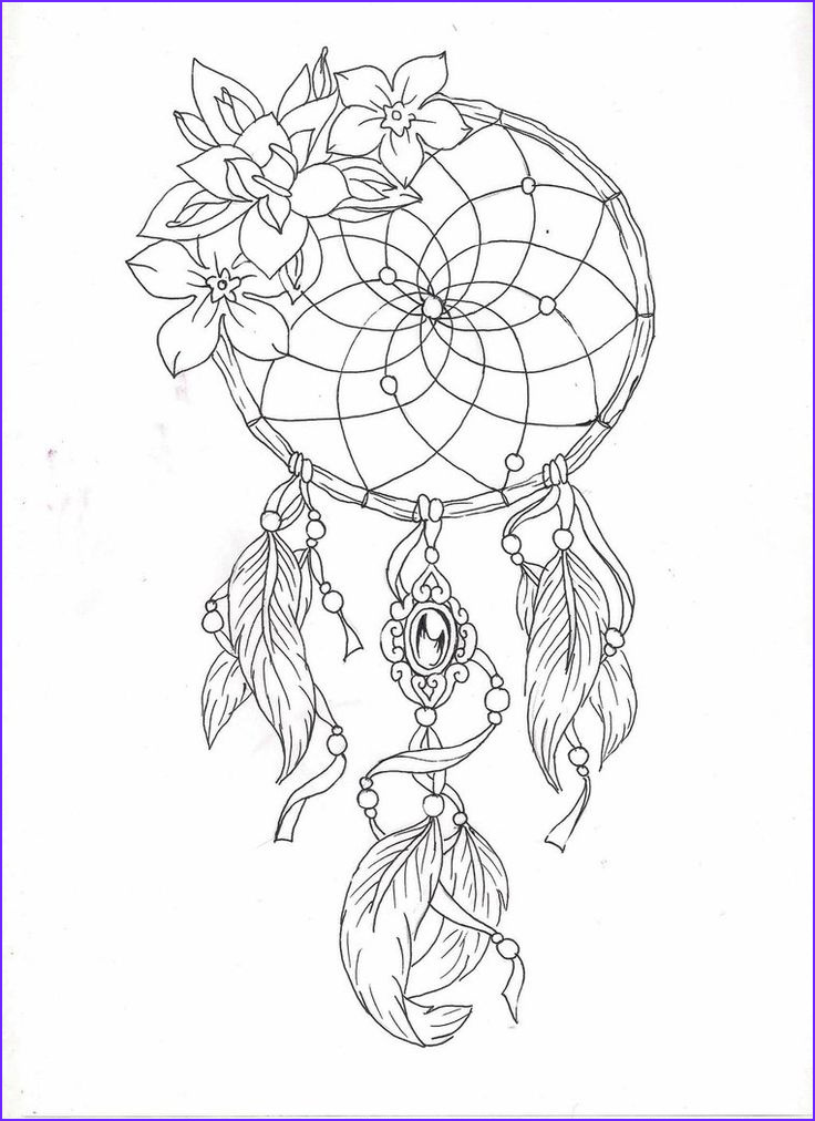 Dreamcatcher Coloring Page Cool Collection Dreamcatcher 2 by Adler666 On Deviantart