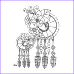Dreamcatcher Coloring Page New Image Instant Digital Download Dreamcatcher Coloring Page
