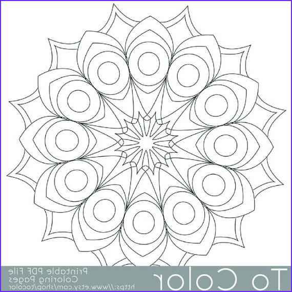 Easy Adult Coloring Books Best Of Stock Items Similar to Printable Circular Mandala Easy Coloring