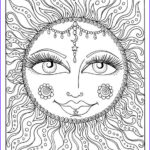 Easy Adult Coloring Pages Beautiful Image Instant Download Sun Summer Coloring Page Adult Coloring