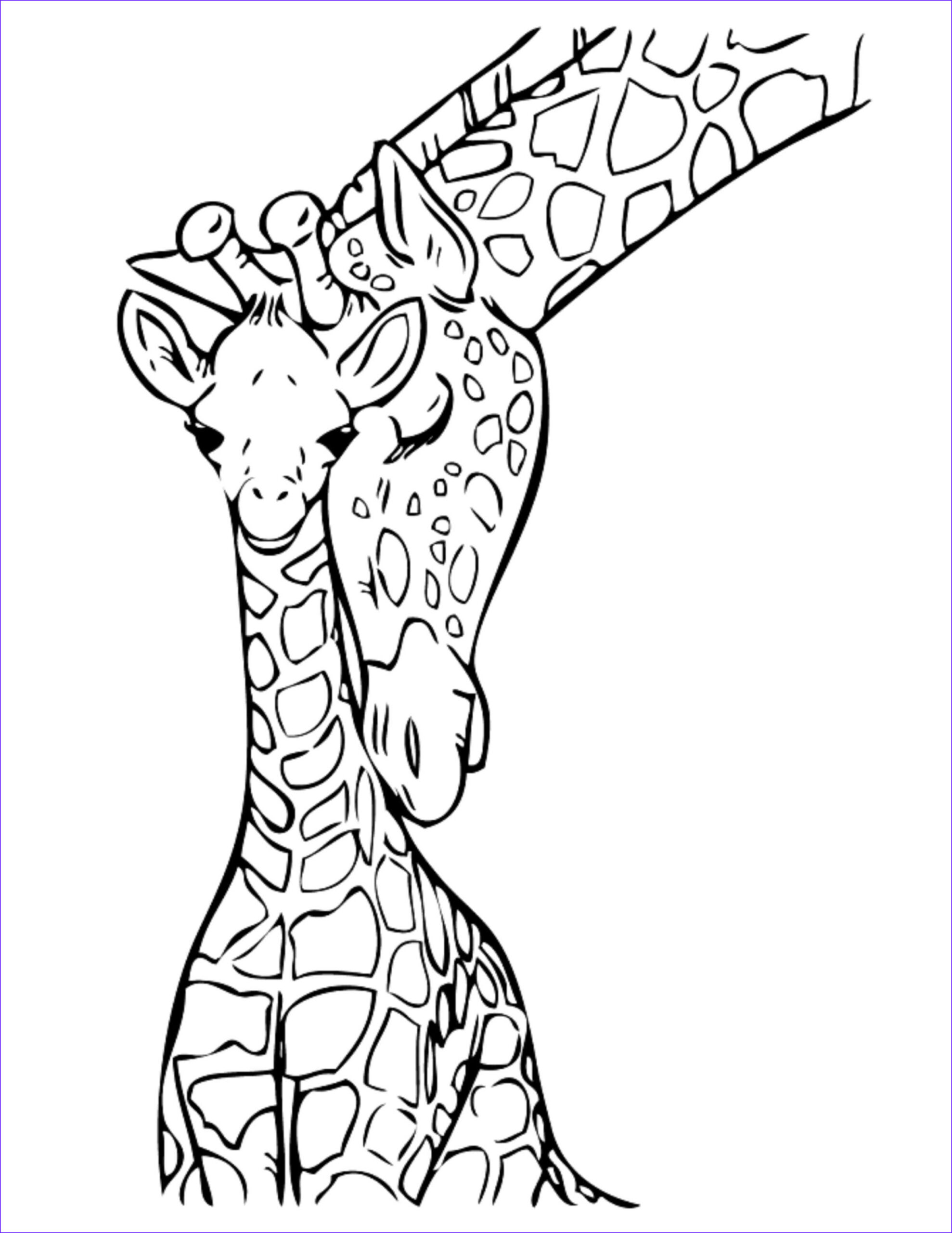 Easy Adult Coloring Pages Beautiful Photos Giraffe Coloring Pages