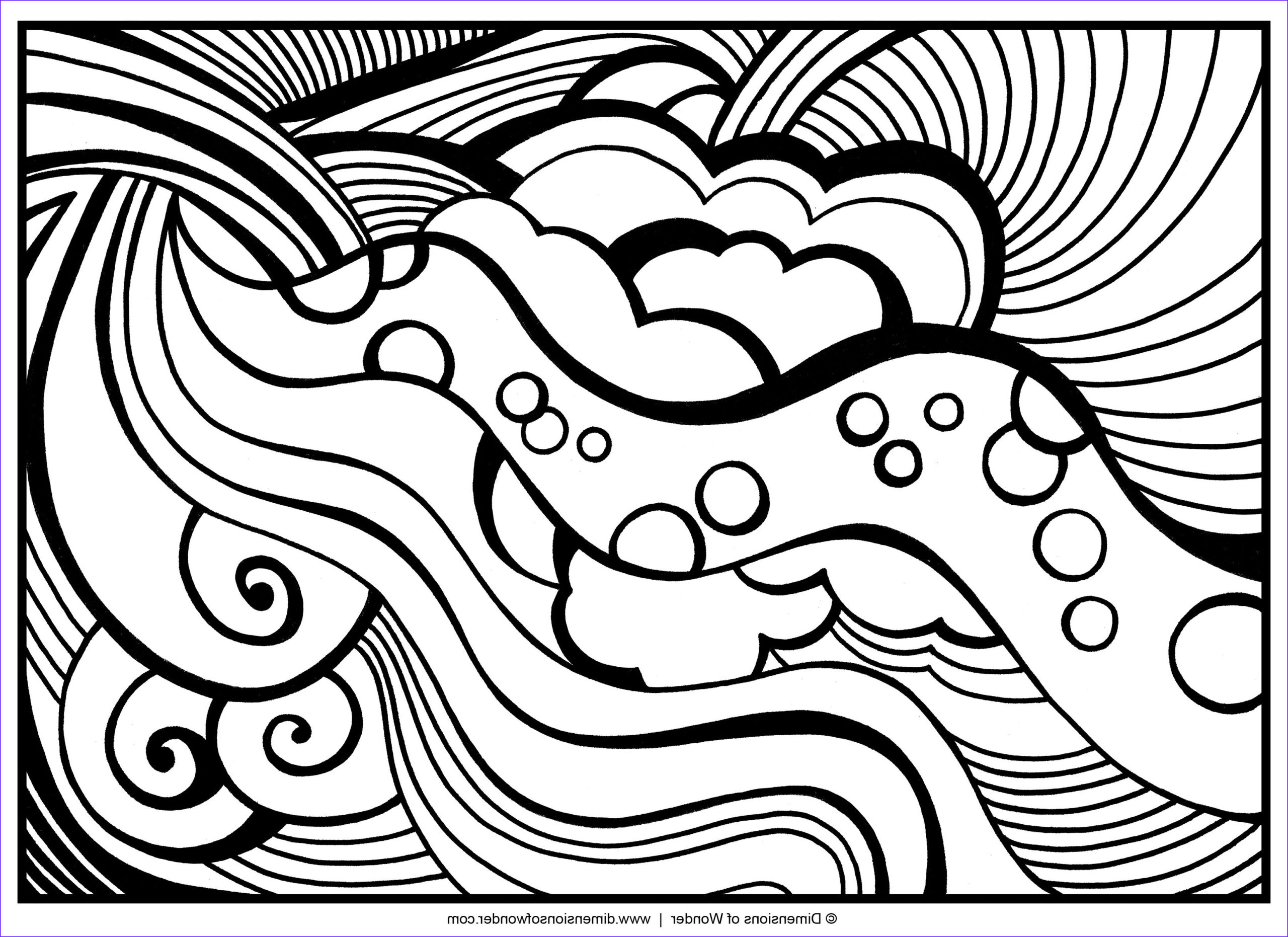 Easy Adult Coloring Pages Beautiful Stock Abstract Coloring Pages Free