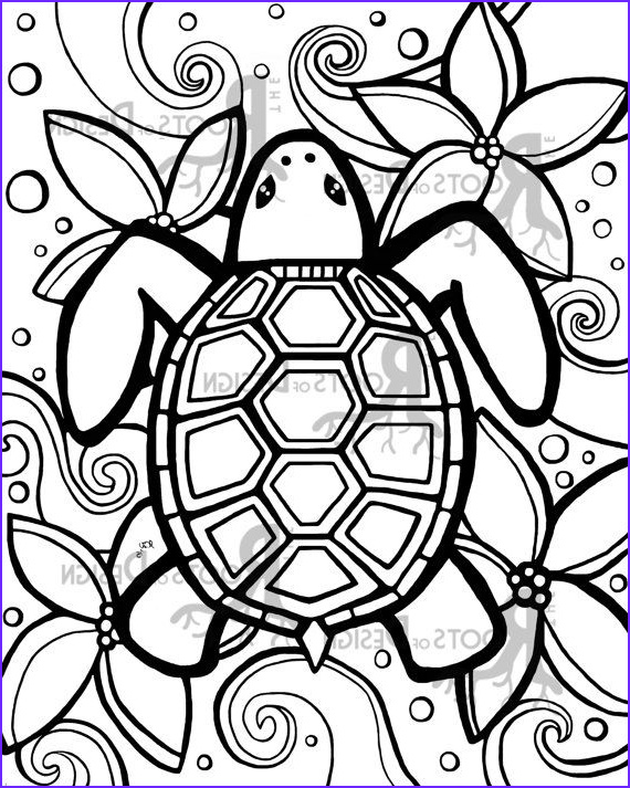 Easy Adult Coloring Pages Best Of Images Instant Download Coloring Page Simple Turtle Zentangle