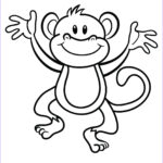 Easy Coloring Beautiful Images Coloring Pages Of Monkeys Printable