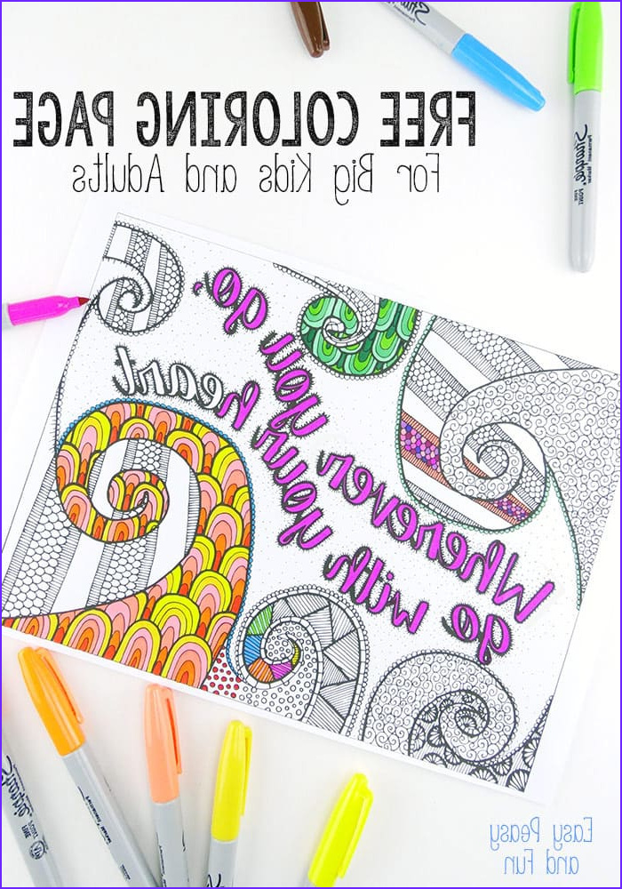 Easy Coloring Book For Adults Beautiful Images Free Coloring Page For Adults Easy Peasy And Fun