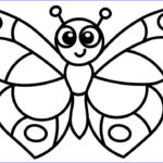 Easy Coloring Inspirational Gallery Learn How To Draw A Butterfly Easy Coloring Pages For
