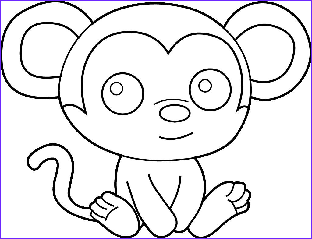 printable kids coloring pages easy coloring pages monkey easy coloring pages printable