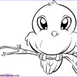 Easy Coloring Pages Awesome Stock Simple Bird Drawing For Kids