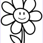 Easy Coloring Pages Beautiful Image Flower Coloring Pages Coloringsuite