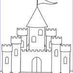 Easy Coloring Unique Images Printable Castle Coloring Pages For Kids