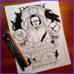 Edgar Allan Poe Coloring Pages Best Of Stock 1000 Images About Poe Edgar Allan On Pinterest