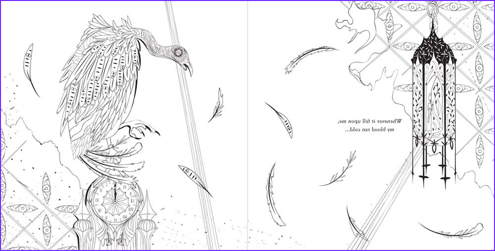 review and giveaway edgar allan poe an adult coloring book by odessa be
