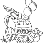 Eggs Coloring Pages Beautiful Photos Cute Easter Bunny And Eggs Coloring Page