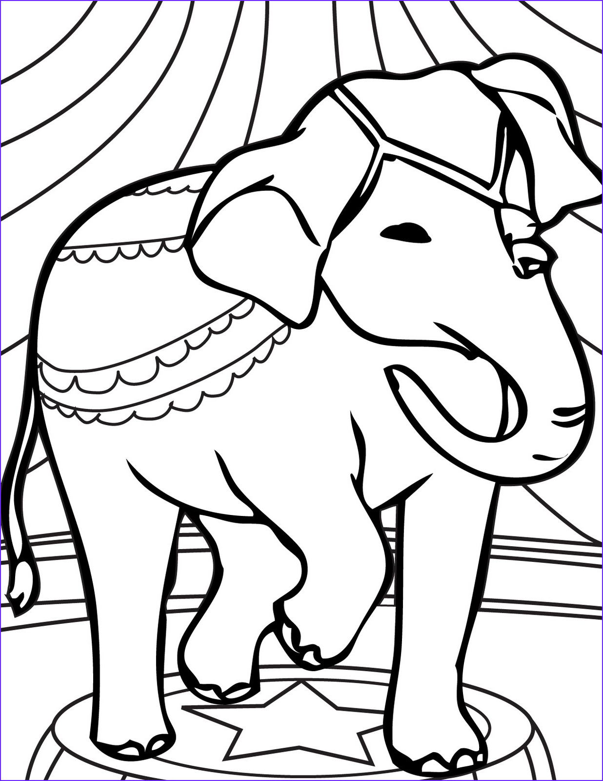 Elephant Coloring Pages Inspirational Stock Circus Elephant Coloring Pages Ideas to Kids
