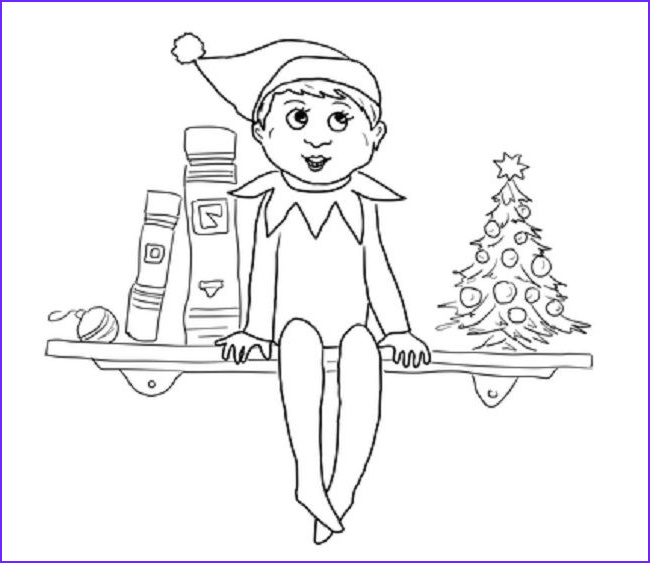 Elf Coloring Awesome Photos Elf On the Shelf Coloring Page Elves