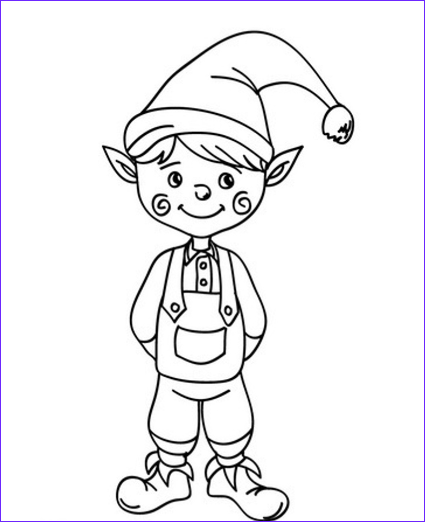 Elf Coloring Beautiful Photos Free Printable Elf Coloring Pages for Kids