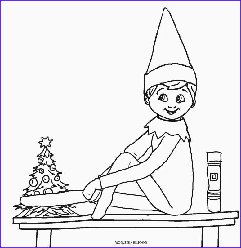 Elf Coloring Elegant Photos Free Printable Elf Coloring Pages for Kids
