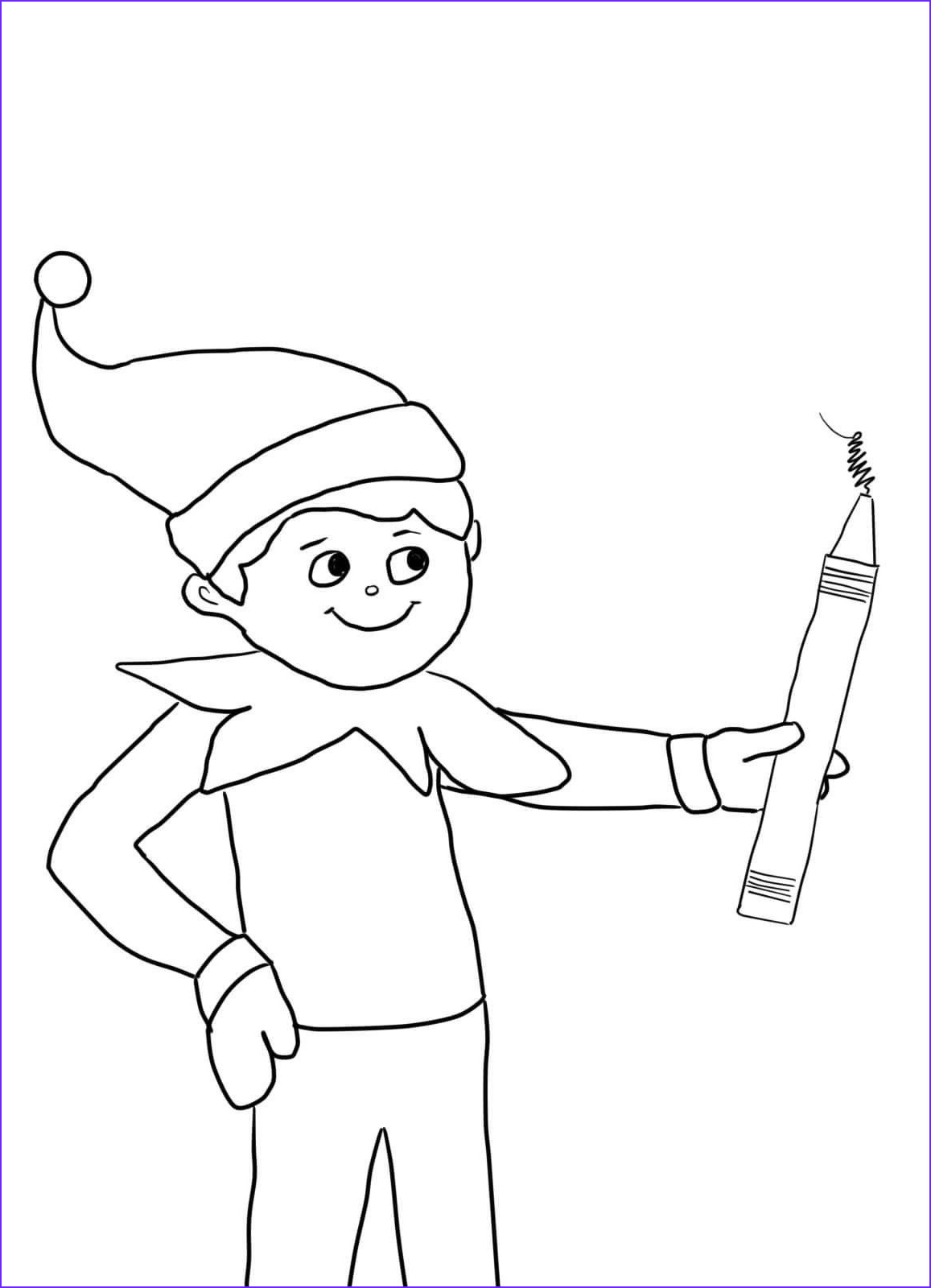 Elf Coloring Luxury Photography Elf A Shelf Coloring Pages Coloring Home