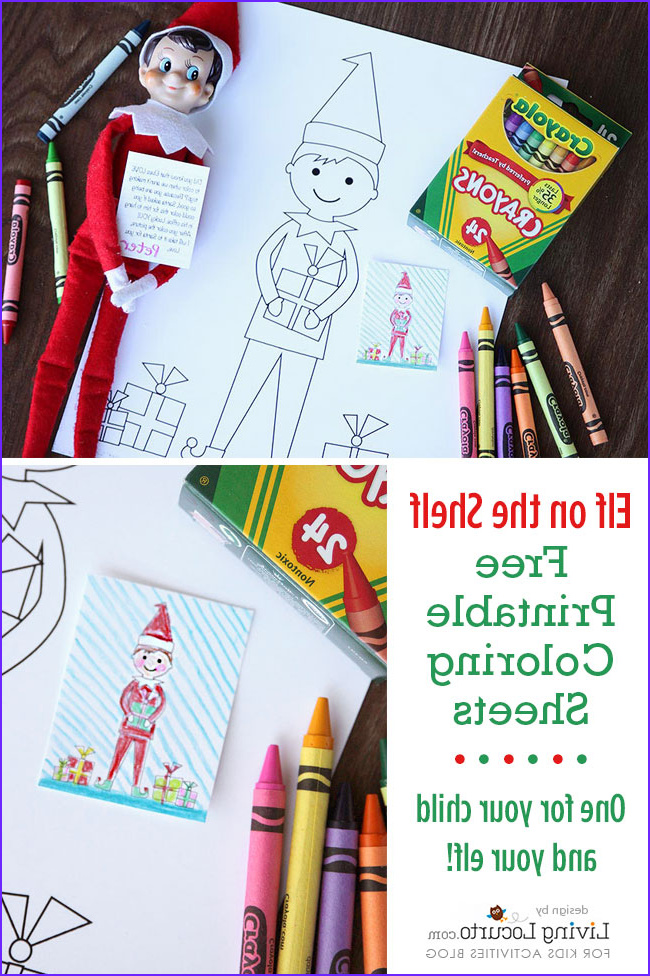Elf Coloring Pages Printable Awesome Gallery Elf the Shelf Sized Coloring Sheets and Kid Sized