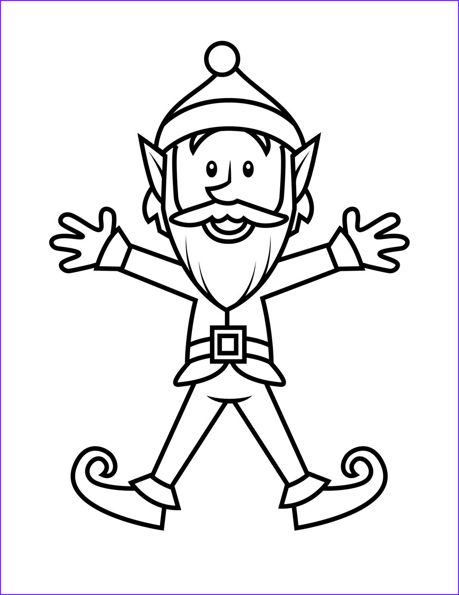 Elf Coloring Pages Printable Beautiful Images Free Printable Elf Coloring Pages for Kids