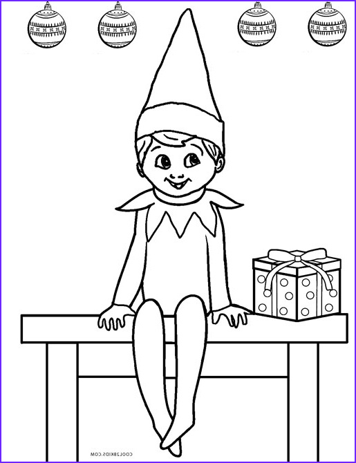 elf coloring pages