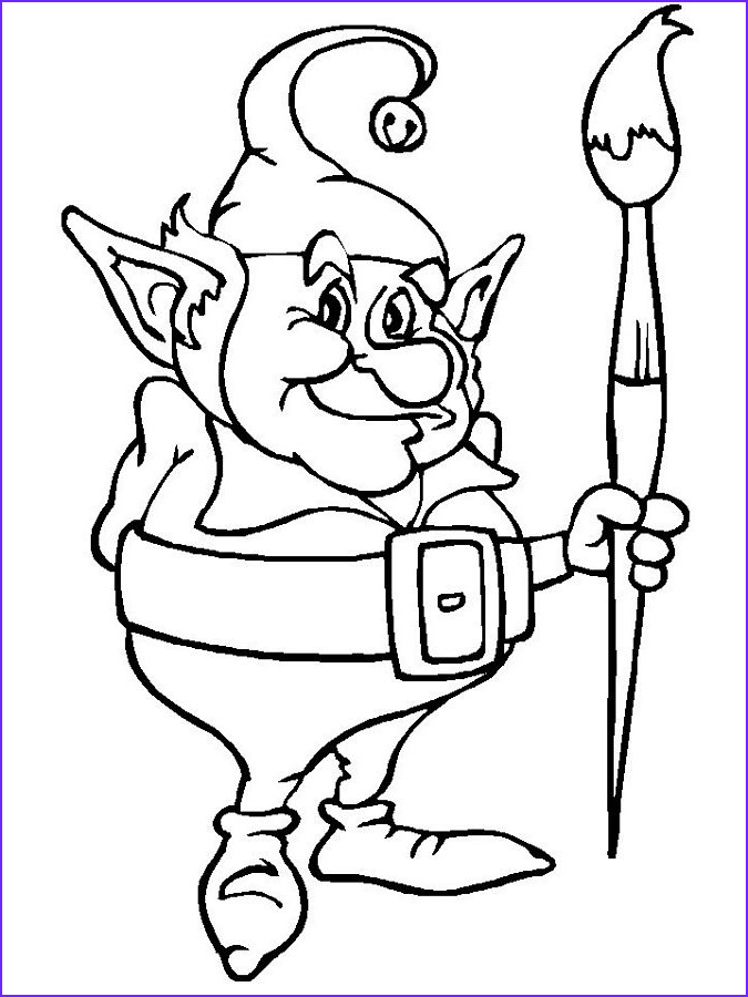 Elf Coloring Pages Printable Cool Stock Elf Coloring Pages