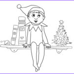 Elf Coloring Pages Printable Elegant Photography Elf Sits On Shelf Coloring Page