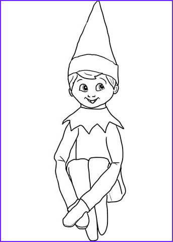 Elf Coloring Pages Printable Inspirational Photos Christmas Elf On Shelf Coloring Page
