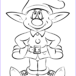 Elf Coloring Pages Printable Unique Photos Christmas Elf Coloring Page