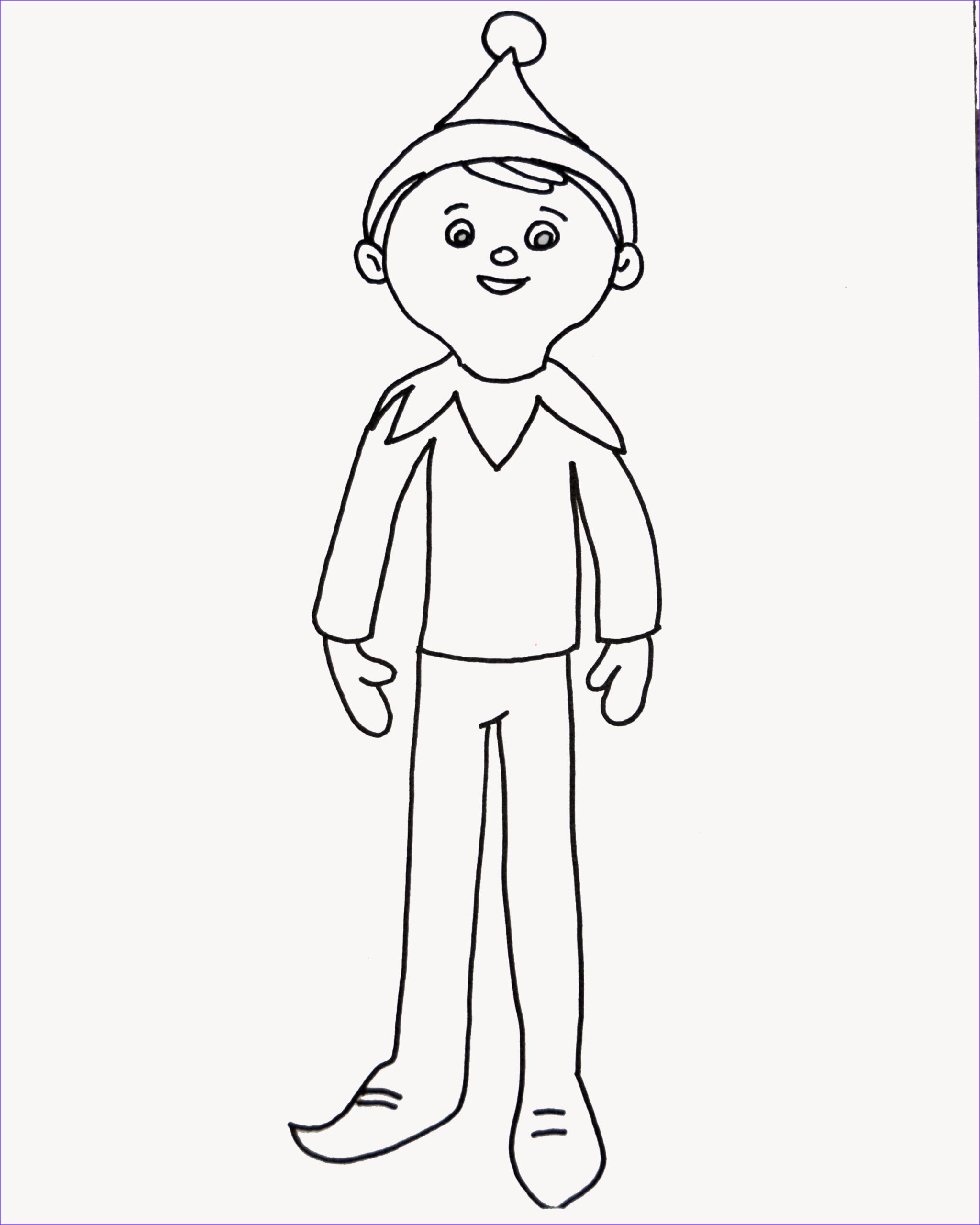 Elf On the Shelf Coloring Sheets Awesome Collection Elf On the Shelf Coloring Page for Elfie and the Kids to