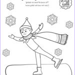 Elf On The Shelf Coloring Sheets Awesome Image The North Pole Has Been Hit With A Blizzard To Stay Warm