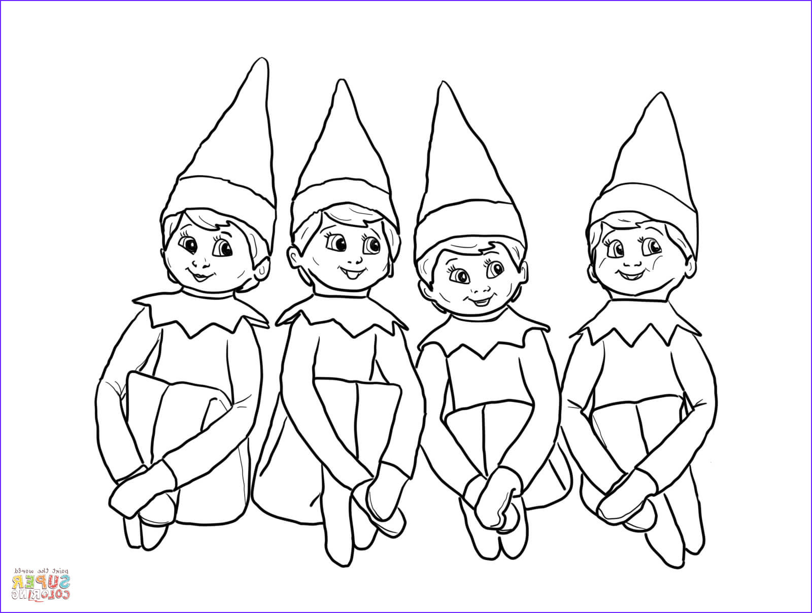 Elf On the Shelf Coloring Sheets Awesome Photos Elves On the Shelf Coloring Page