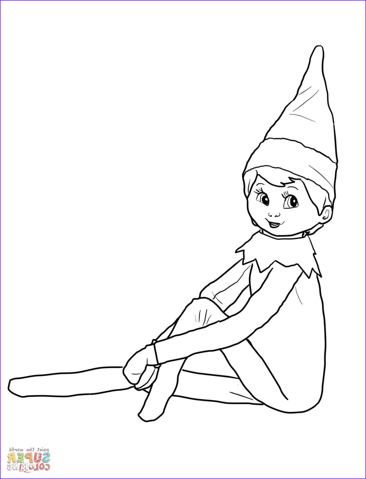 Elf On the Shelf Coloring Sheets Best Of Photos Elf On the Shelf Coloring Page