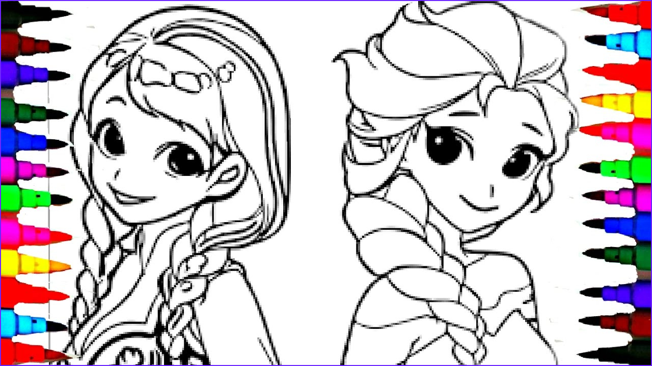 Elsa and Anna Coloring Best Of Photos Coloring Pages Disney Frozen Cartoon Elsa and Anna