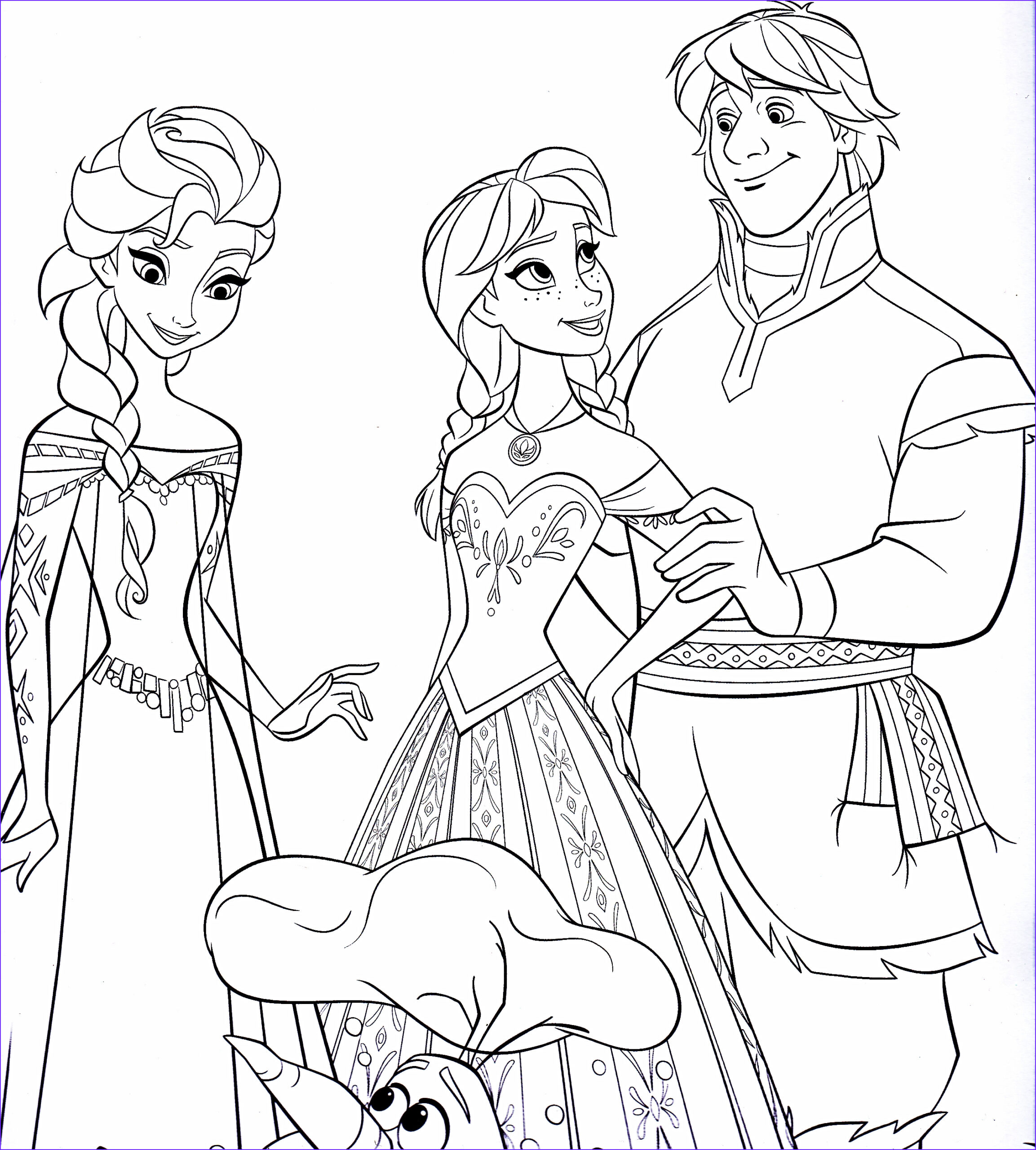 free printable coloring pages elsa and