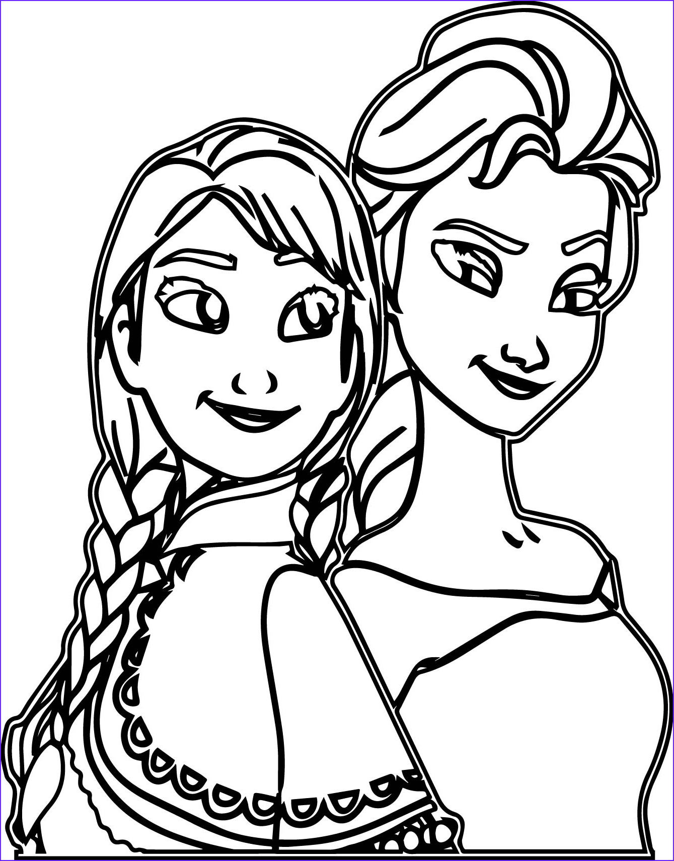 Elsa and Anna Coloring New Photos Elsa and Anna forever Coloring Page