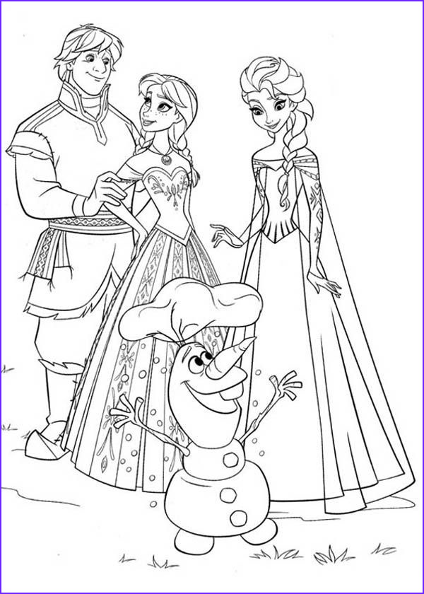 Elsa and Anna Coloring Pages Awesome Images Anna Elsa Kristoff and Olaf Coloring Page Coloring