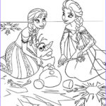 Elsa And Anna Coloring Pages Awesome Stock Frozen Coloring Pages Anna And Elsa And Olaf